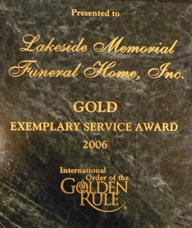 Gold Exemplary Service Award from OGR