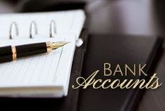 What do I do with the Bank Accounts?